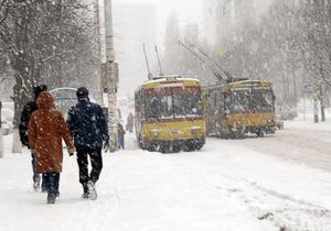 Транспорт не готов к снегопадам