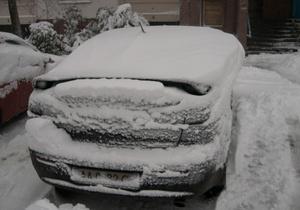 Движения транспорта затруднено из-за снега