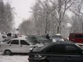 В Житомире из-за снегопадов наблюдаются транспортные проблемы