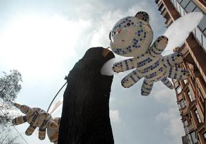 В Киеве появились летающие тигры