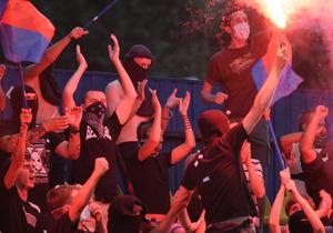 В Киеве подрались футбольные фанаты