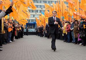 Ющенко на полчаса опоздал на съезд Нашей Украины
