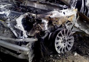 На Оболони сгорел Subaru Forester
