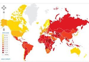 Рейтинг коррумпированности: Украина делит 134-ое место с Гондурасом, Того и Зимбабве