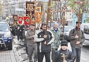 В украинских городах прошли немногочисленные Русские марши (обновлено)