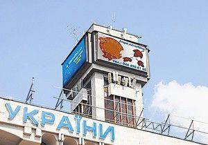 Часы на Майдане Незалежности начали ремонтировать