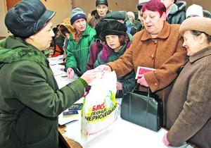 Черновецкий перестал раздавать киевским пенсионерам гречку