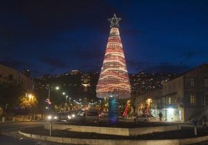 В Израиле установили  новогоднюю елку из пяти тысяч пластиковых бутылок