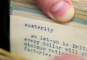 В 2010 году в словарях чаще всего искали меры строгой экономии