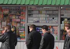 Киевсовет запретил продажу алкоголя и сигарет в киосках