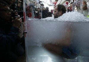 В Китае установлен новый мировой рекорд по пребыванию человека во льду