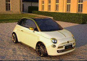 Итальянцы изготовили позолоченный кабриолет Fiat стоимостью 550 тысяч евро