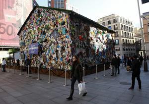 В центре Мадрида открылась гостиница из мусора