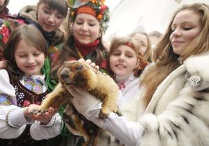 Львовские сурки Миша и Маруся предсказали позднюю весну