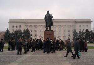 В центре Херсона коммунисты провели митинг с требованием дешевой гречки