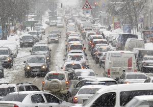 Сегодня утром в Киеве были зафиксированы рекордные в этом году пробки