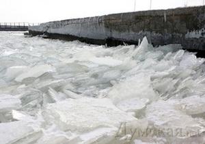 У берегов Одессы замерзло море