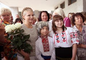 Тимошенко на малой родине Шевченко встретили сторонники Януковича