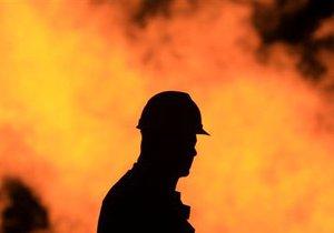 В Киеве горел обувной киоск