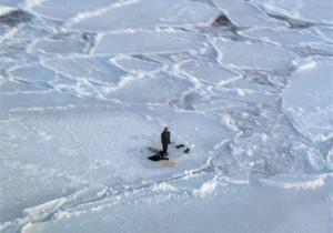 В Ленинградской области оторвалась льдина с 30 рыбаками