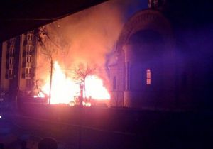МЧС установил причину пожара в храме в центре Киева