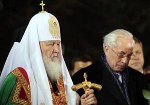 Патриарх Кирилл совершил в Киеве заупокойную службу по жертвам трагедии на ЧАЭС