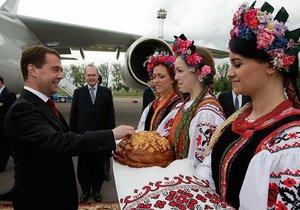 Медведев прибыл в Украину