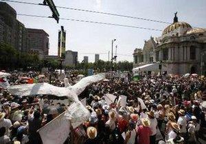 Более 85 тысяч мексиканцев вышли на марш в знак протеста против наркомафии