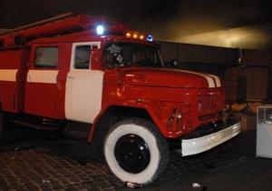 В Соломенском районе Киева произошел пожар в бане