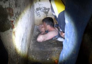 Житель Черкасской области простоял два часа по шею в фекалиях