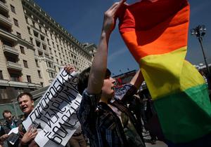 Фотогалерея: Несостоявшийся гей-парад. В Москве разогнали акцию в поддержку секс-меньшинств
