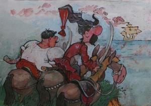 Корреспондент: Сообразили на троих. Как рисованные казаки-запорожцы покорили СССР