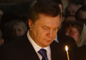 Янукович на Троицу традиционно посетит Киево-Печерскую Лавру