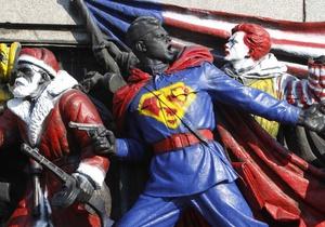 В Софии памятник красноармейцам разрисовали героями американских комиксов