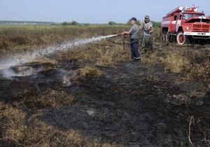 В Запорожской области огонь уничтожил почти 30 гектаров пшеницы