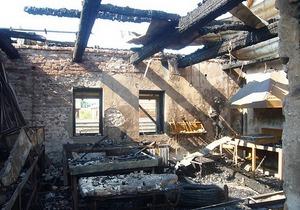В гостинично-ресторанном комплексе близ Ивано-Франковска произошли два взрыва и пожар