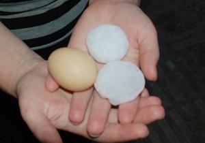 Во Львовской области выпал град размером с куриное яйцо