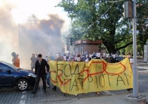 Против членов Патриота Украины возбудили уголовное дело за три дымовые шашки