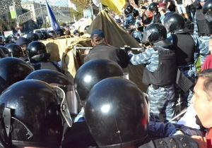 Суд оштрафовал оппозиционера за установку палаток напротив Печерского суда