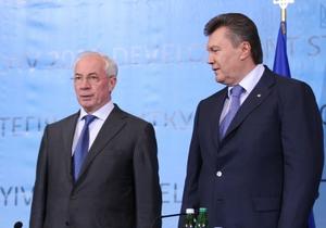 Янукович и Азаров поздравили украинских кинематографистов с профессиональным праздником