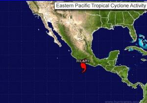 В Тихом океане набирает силу ураган Хилари