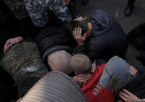 МВД: У задержанных членов ВО Свобода были дымовые шашки и рогатки