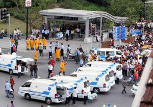 В Шанхае столкнулись два поезда метро