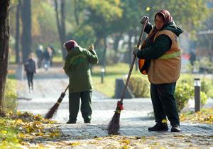 Попов поручил повысить зарплаты столичным дворникам