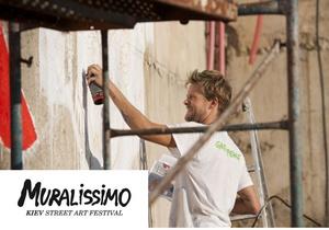 Французский уличный художник 3ttman приехал разрисовывать Киев