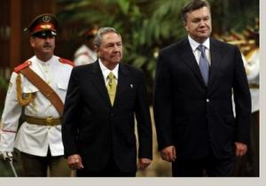 Янукович обещает развивать двустороннее сотрудничество с Кубой