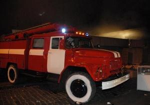В Полтавской области сгорел склад с кукурузой и пшеницей