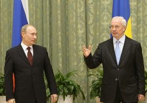 Азаров и Путин проводят встречу в Ново-Огарево