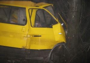 В Макеевке маршрутка врезалась в дерево: пострадали 16 человек