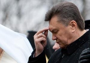 Янукович советует украинцам просить Бога о помощи